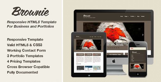 free portfolio html website templates 14 15 Free Portfolio HTML Website Templates