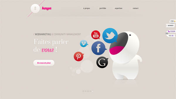 kaya Web Design Inspiration #5