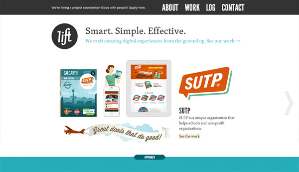lift interactive web design Web Design Inspiration #3