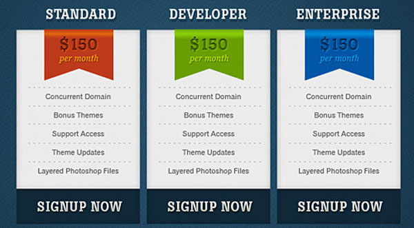 37 Free Pricing Table PSD Templates - Smashfreakz - price chart template