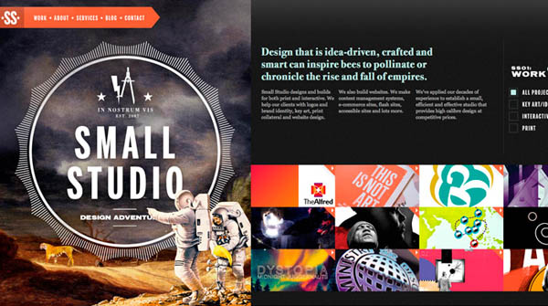 small studio Web Design Inspiration #3