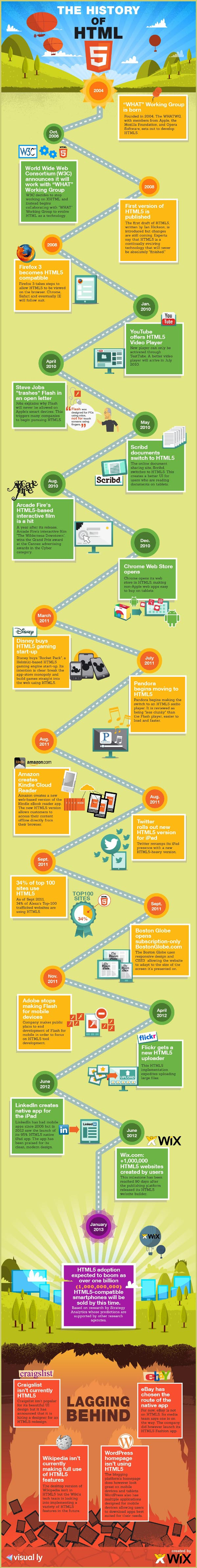 the history of html5 The History of HTML5 [Infographic]