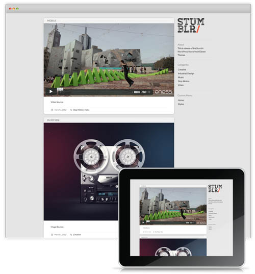 tumblr style wordpress themes 01 18 Free Awesome Tumblr Style Wordpress Themes