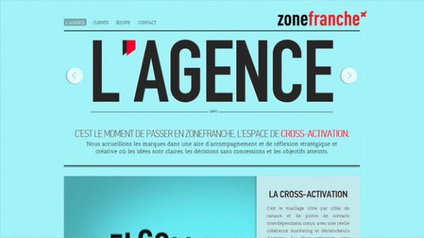 zone franche Web Design Inspiration #4