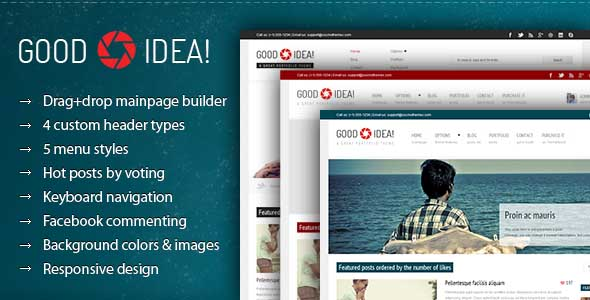 best portfolio wordpress themes 09 25 + Best Portfolio WordPress Themes for August 2012