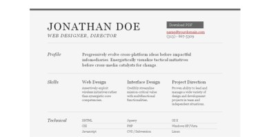 creative resume template 08 22 Free Creative Resume template