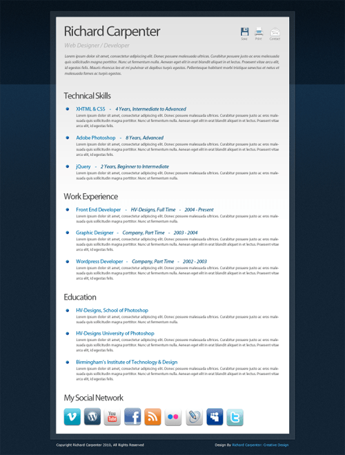 creative resume template 15 22 Free Creative Resume template