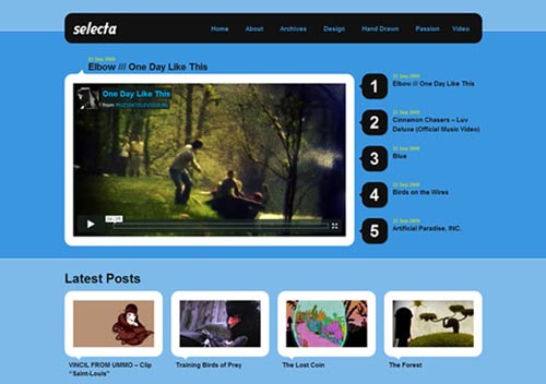 free video wordpress themes 08 11 Free Video Wordpress Themes