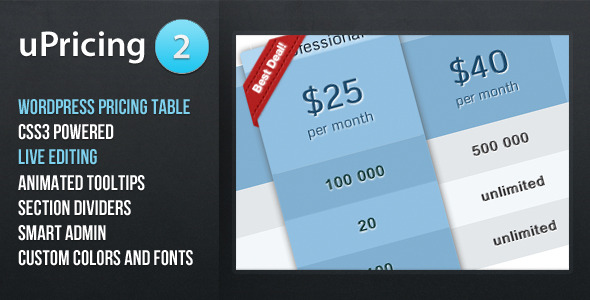 wordpress pricing table plugins 04 10 Free and Premium Wordpress Pricing Tables Plugins