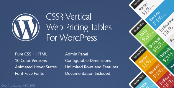 wordpress pricing table plugins 09 10 Free and Premium Wordpress Pricing Tables Plugins