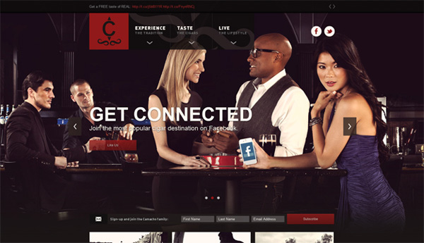 Camacho Cigars Web Design Inspiration #14