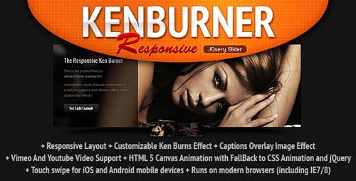KenBurner Slider1 25 Best Responsive jQuery Slider Plugins