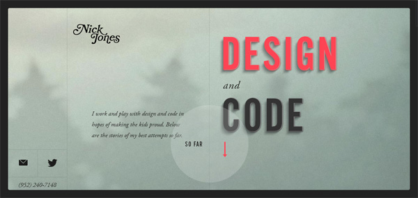 Nick Jones Web Design Inspiration #14