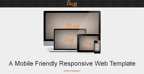 free responsive html website templates buzz 12 Free Responsive HTML Website Templates