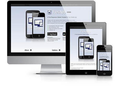free responsive html website templates flex 12 Free Responsive HTML Website Templates