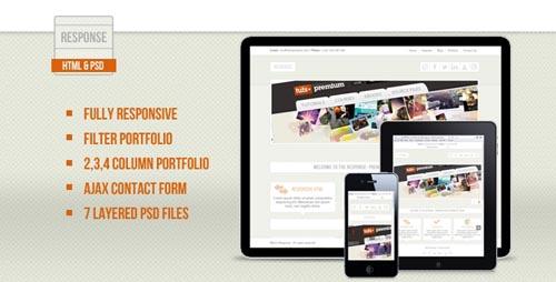 free responsive html website templates response 12 Free Responsive HTML Website Templates