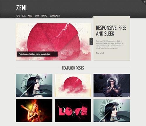 free responsive html website templates zeni 12 Free Responsive HTML Website Templates