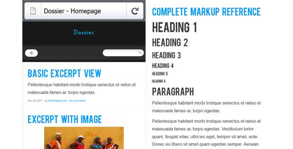 mobile website templates 01 50 Best Mobile Website Templates