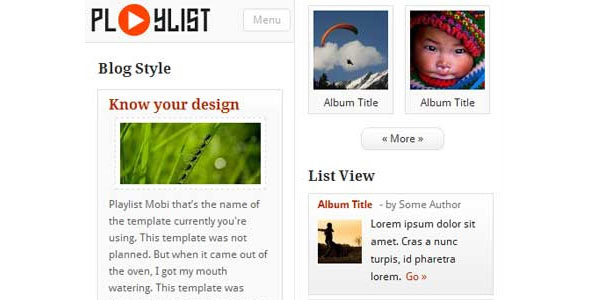 mobile website templates 02 50 Best Mobile Website Templates