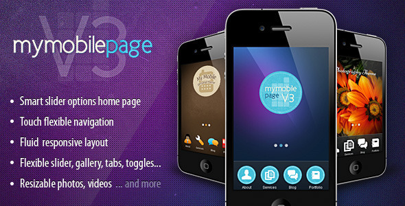 mobile website templates 13 50 Best Mobile Website Templates