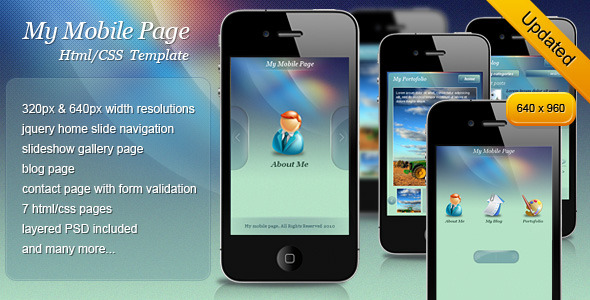 mobile website templates 19 50 Best Mobile Website Templates