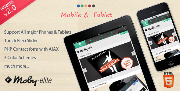 mobile website templates 21 50 Best Mobile Website Templates