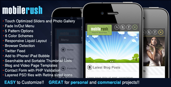 mobile website templates 26 50 Best Mobile Website Templates