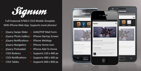 mobile website templates 39 50 Best Mobile Website Templates