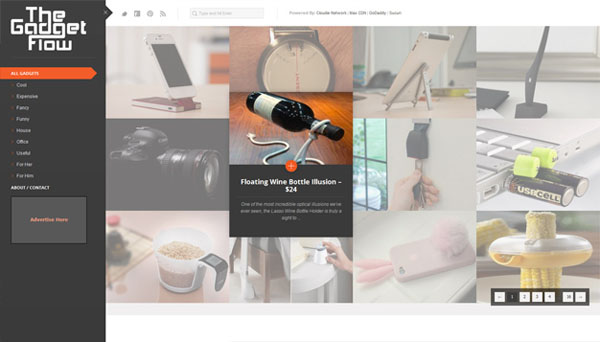 the gadget flow Web Design Inspiration #13