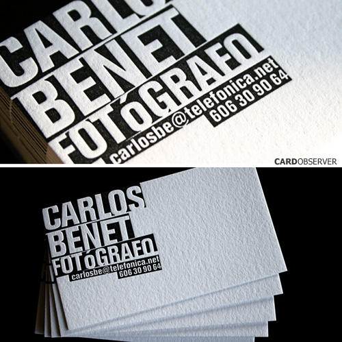 typographic business cards 03 30 Typographic Business Cards Design Inspiration
