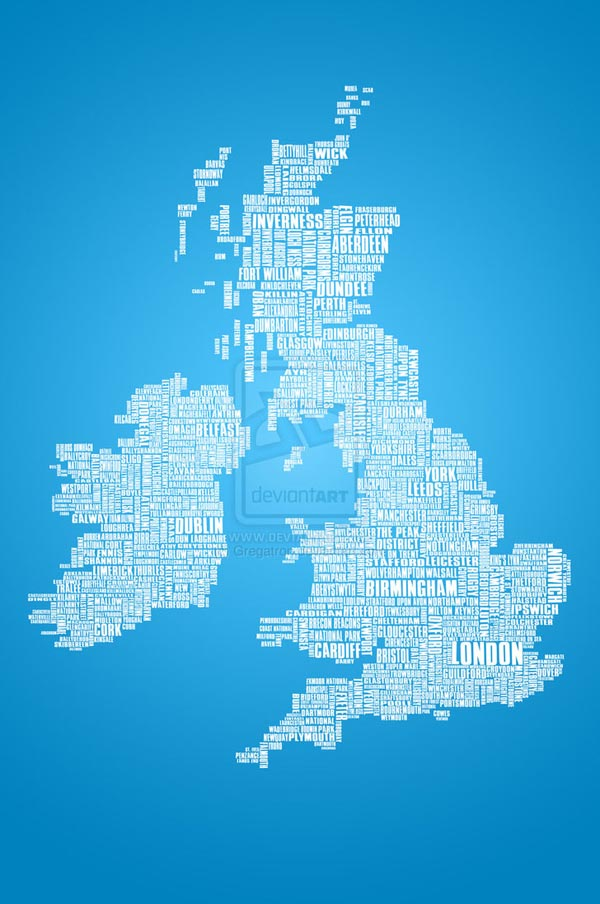 British Isles is the Word 25 Creative Typography Poster Design