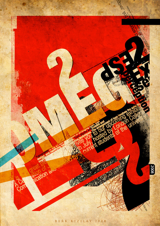 Chaos is my name 25 Creative Typography Poster Design
