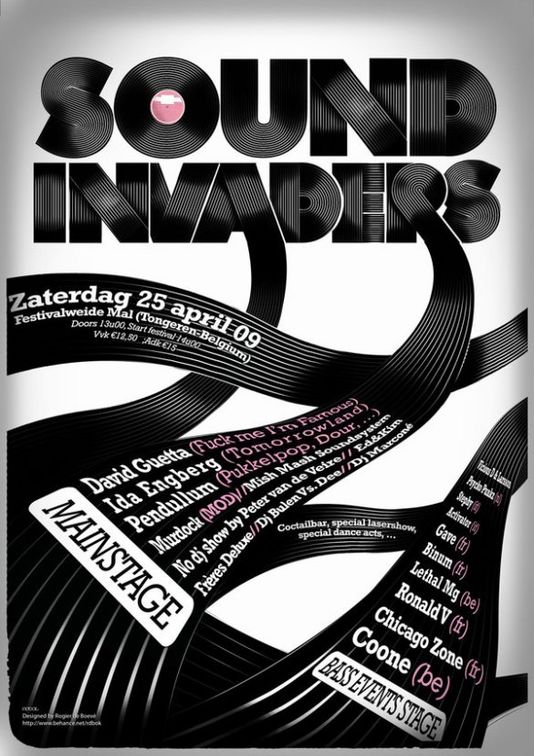 Sound Invaders 25 Creative Typography Poster Design