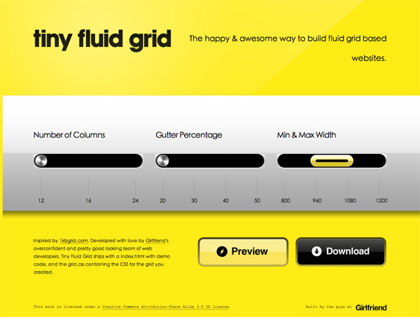 Tiny Fluid Grid Web Design Inspiration #17