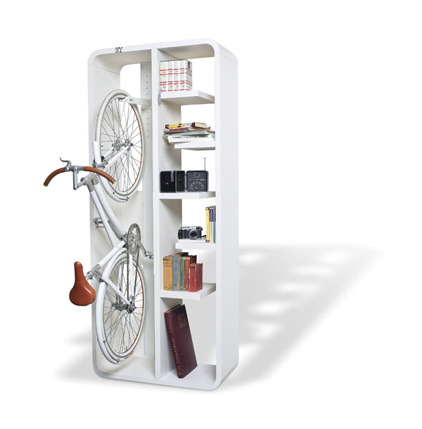 bookbike 04 Bookbike Attractive Book and Bike Storage by BYografia