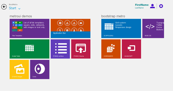 bootmetro BootMetro : Web Framework For Windows 8 Style Websites