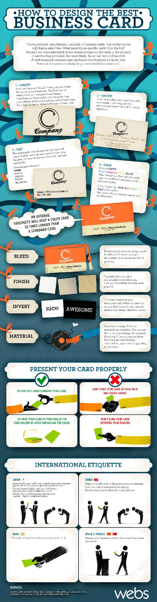 how to design the best business card infographic How to Design The Best Business Card [infographic]