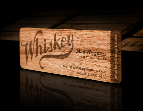 wood card 10 40 Creative Wooden Business Cards Inspiration