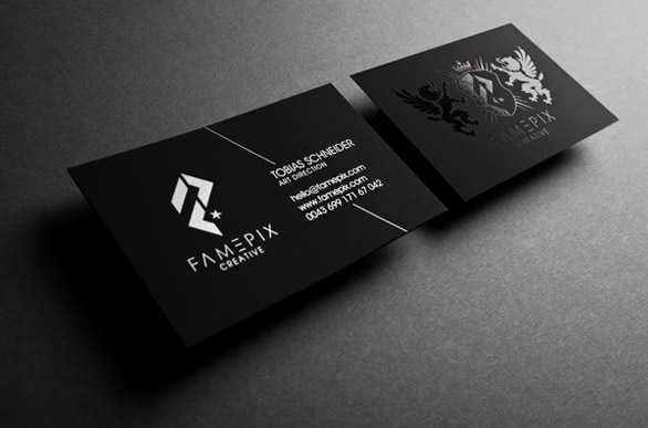 black business cards 15 40 Inspirational Black Business Cards