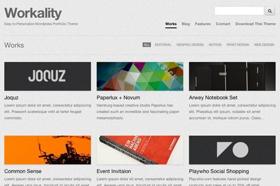 workality front Workality Free Responsive Portfolio Wordpress Theme For Creative Agency