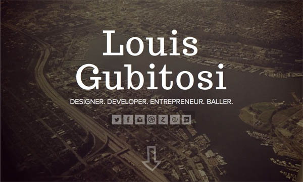 Louis Gubitosi Web Design Inspiration #21