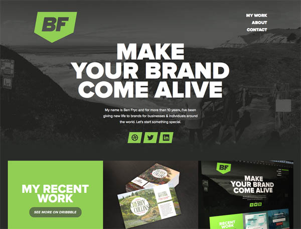 Ben Fryc 2 Web Design Inspiration #22