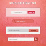 50 Free Useful Search Box PSD Template