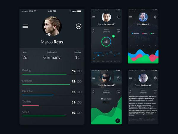 32 Football App UI Design for Inspiration - Smashfreakz