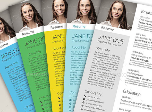 free colorful resume templates - Baskanidai