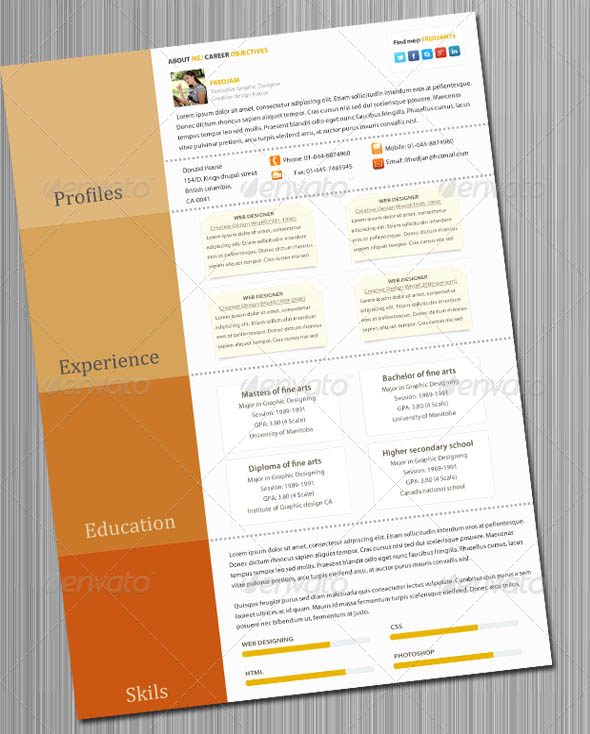 Colorful resume templates 9854527 - metabo01info