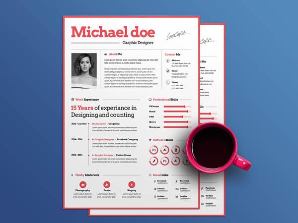 10 Free Attractive Resume Templates for Maximum Impression - Smashfreakz