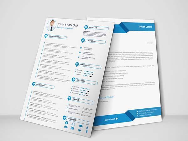 10 Free Word Resume Template with Professional Design - Smashfreakz