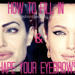 Makeup Tricks: How to fill in & shape eyebrows