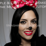 Very Simple & Very Easy Minnie Mouse Makeup Tutorial (Halloween 2013)